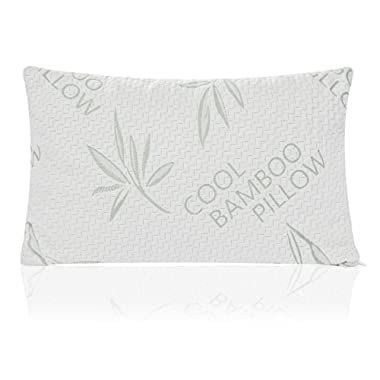 Handua Queen Size Shredded Memory Foam Pillow | Back, Stomach, Side Sleeper | Adjustable Bed Pillow for Sleeping | Hotel Down Alternative with Cooling Bamboo Pillow Cover