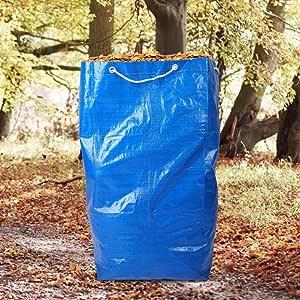 CviAn Bolsas de basura para jardín, bolsas de compost resistentes con asas, bolsas de jardín, bolsas de hojas reutilizables extra grandes, azul: Amazon.es: Jardín