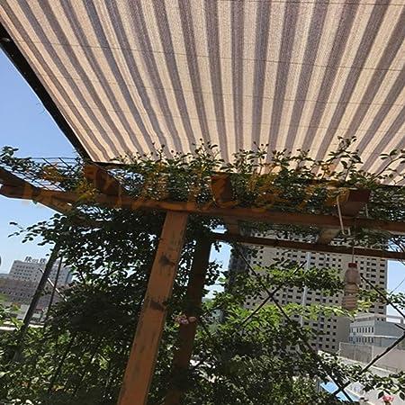 Shading net QINGJIU Paño de la Cortina del Sol de la Tela de la Sombra del 90% con los Ojales para el toldo de la Cubierta de la pérgola, Trigo (Tamaño :