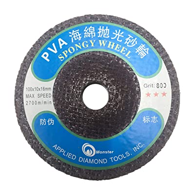 Toolocity HLPVAMS5 4-Inch PVA Marble Polishing Wheel MS Styple, 800 Grit: Home Improvement