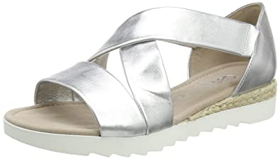 Gabor Shoes Damen Comfort Offene Sandalen, Silber (Silber (Jute) 10), 5634499b92