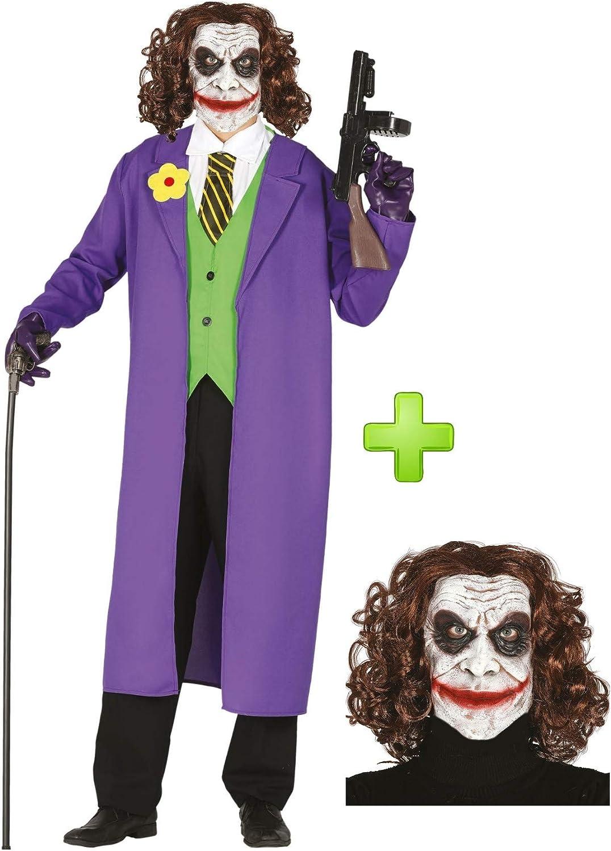 Disfraz de Payaso de Comic con mascara: Amazon.es: Ropa y accesorios