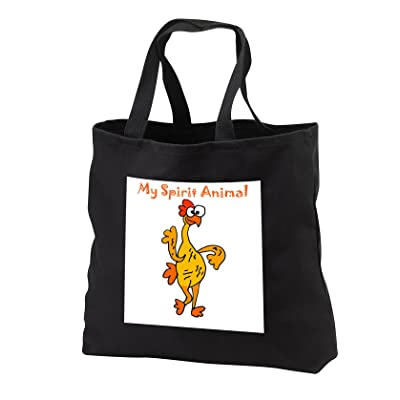 3dRose All Smiles Art Funny - Funny Rubber Chicken Spirit Animal - Tote Bags