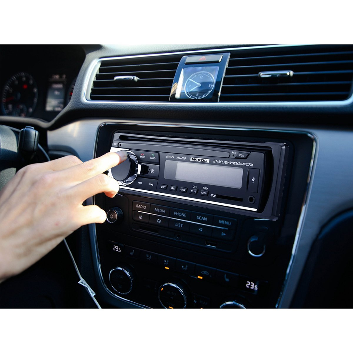 Digital Car Stereo - Wikoo Single-Din Bluetooth Car Stereo In Dash with Remote Control - Receivers USB/SD/Audio - MP3 Player/FM Radio, Supports Hands Free Calling by Wikoo (Image #8)
