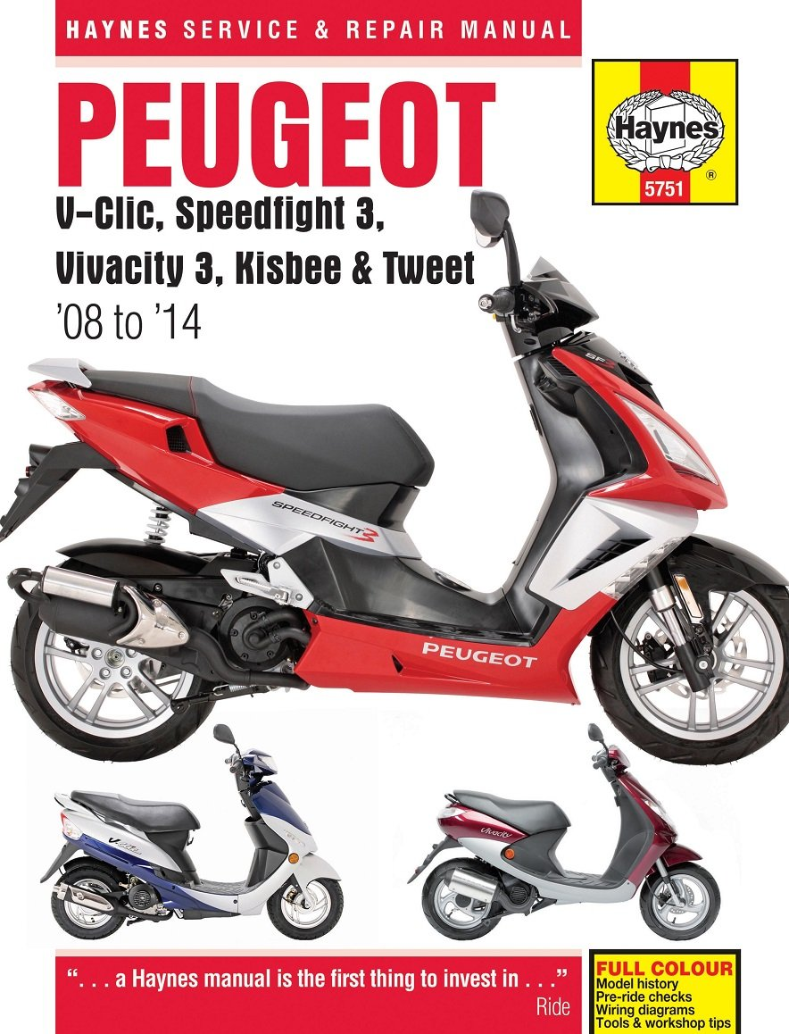 Peugeot V-Clic Speedfight 3 Vivacity 3 Kisbee Tweet 2008-2014 Haynes Manual:  Amazon.co.uk: Car & Motorbike