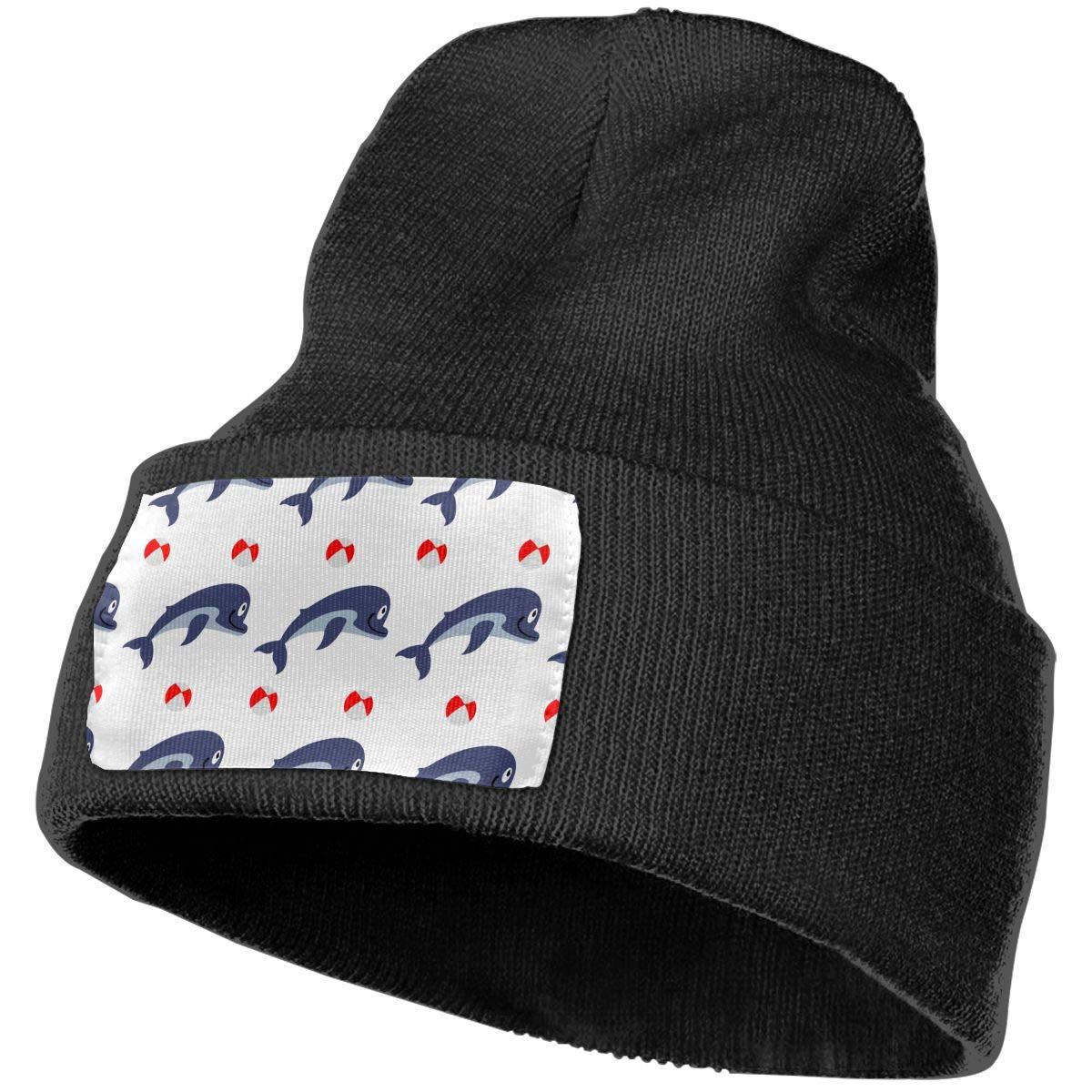 Dolphin with Ball Unisex Winter Knitting Woolen Hat Warm Cap