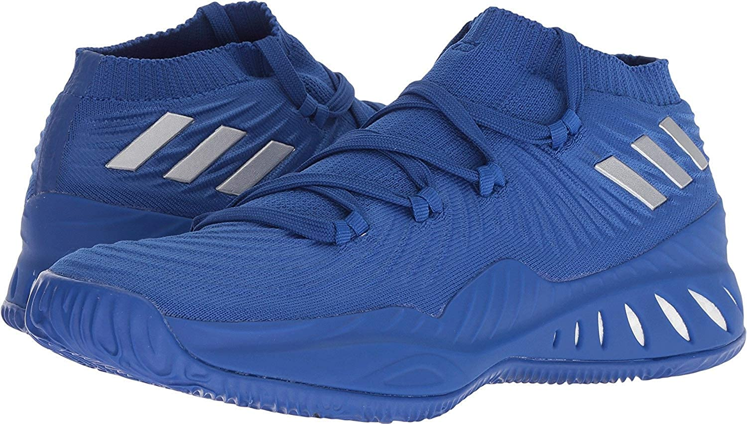 bluee-Silver Metallic Adidas Crazy Explosive 2017 Primeknit Low shoes Men's Basketball
