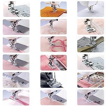 Máquina de coser doméstica Prensatelas Accesorios de costura multifuncionales Conjunto de traje para prensatelas de 42 piezas Kit de prensatelas, ...