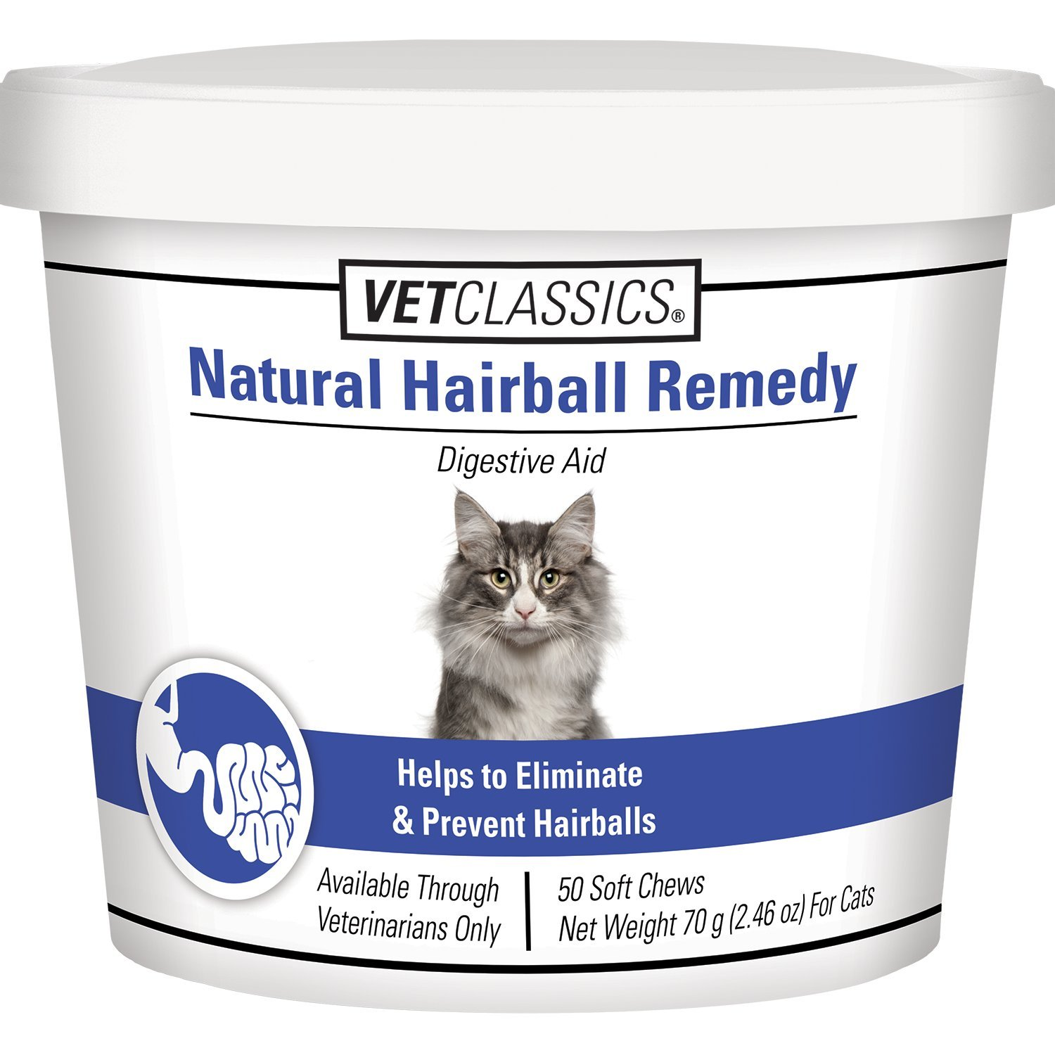 Natural Hairball Remedy Soft Chews for Cats 50 count