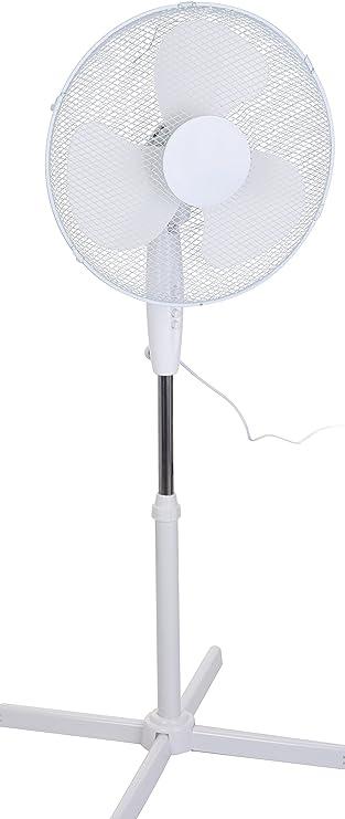 Ventilador de pie, blanco, 40 cm de diámetro con 3 niveles de ...
