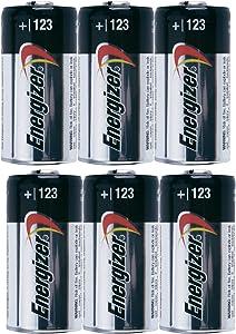 Energizer Photo Battery 123, 6-Count Bulk
