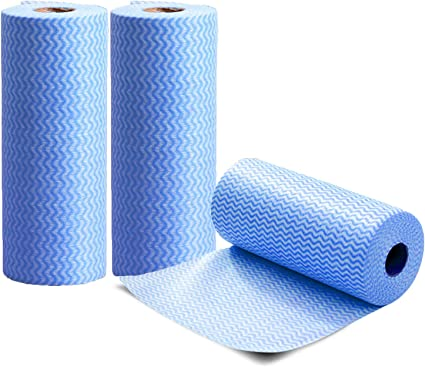 Hygenic Re-Usable Multi Purpose Cloths on a Roll for General Cleaning 50 Sheets