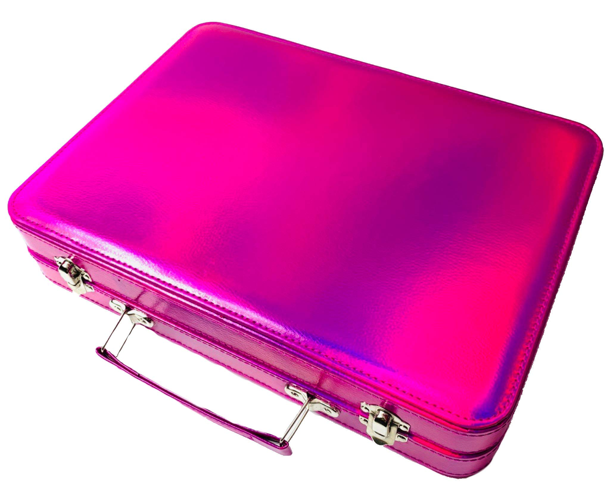 BR Carry All Trunk Professional Makeup Kit - Eyeshadow, Eyeliner, Lip Stick All In One Clear Case (RedCase) by BR (Image #5)