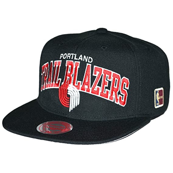 watch b3988 99799 Image Unavailable. Image not available for. Colour  Mitchell   Ness  Portland Trailblazers Black Team Arch Snapback Cap NBA HWC Kappe Basecap