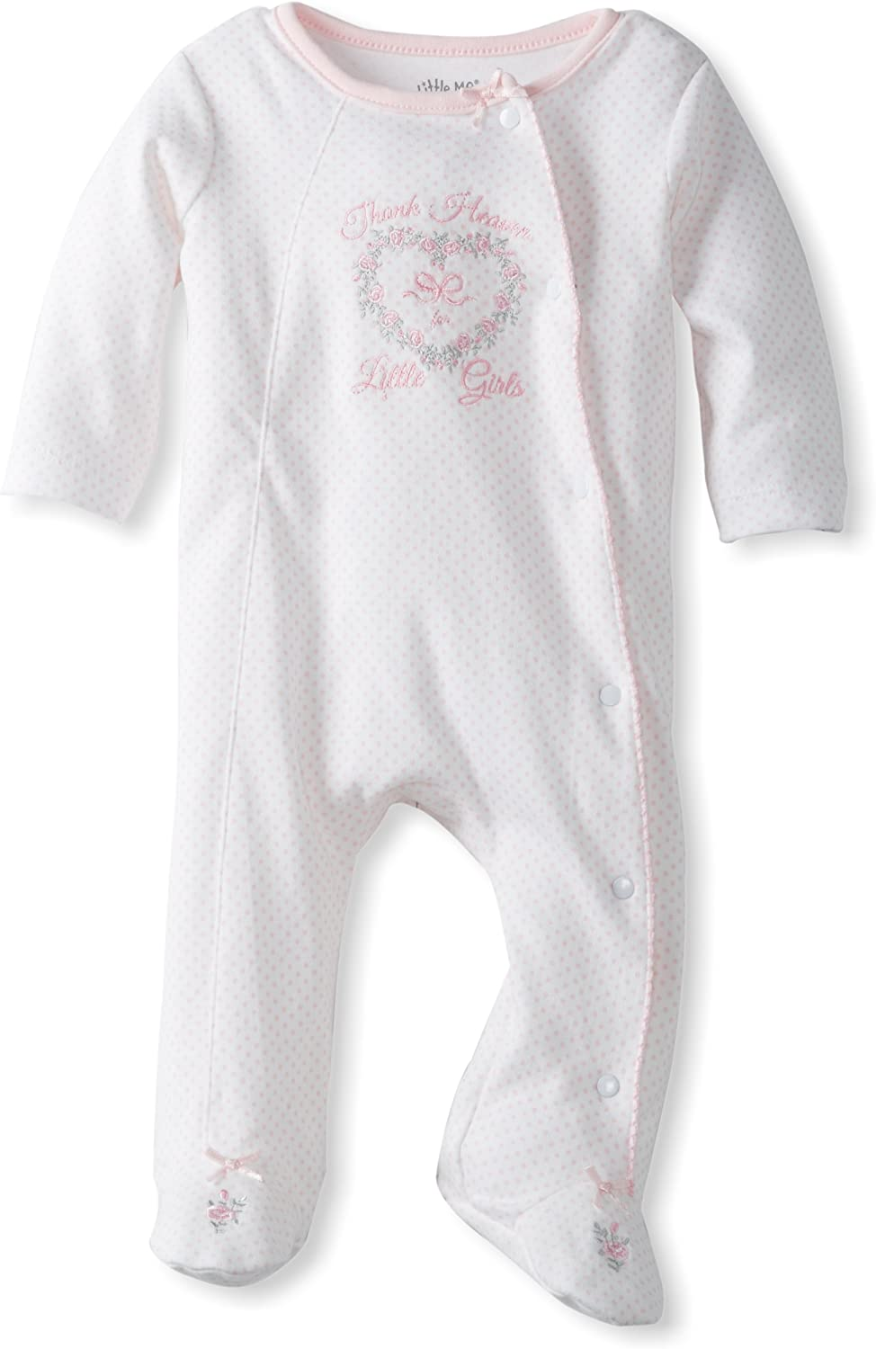 Little Me Baby Girls' Footie Footed Sleeper Pajamas