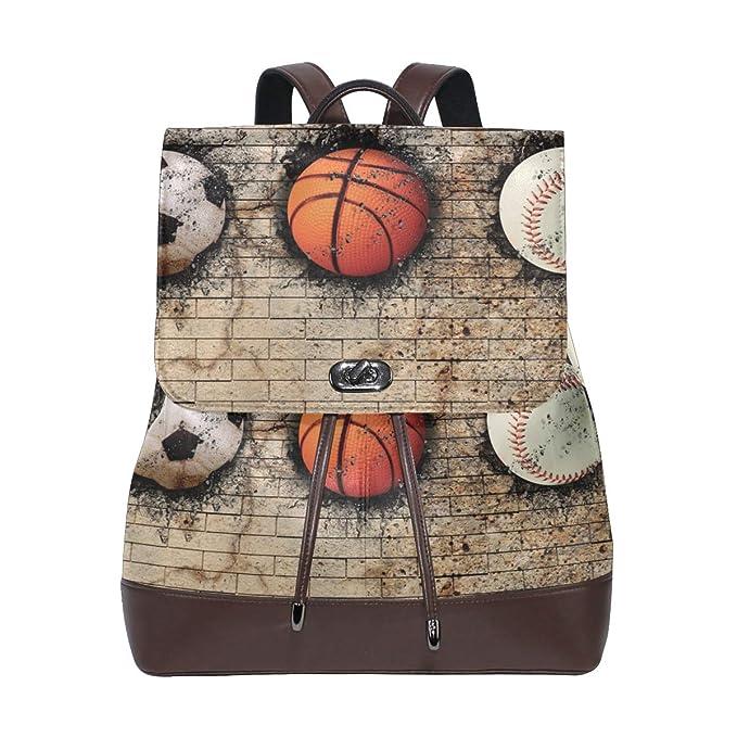 LUPINZ - Mochila de Piel para Baloncesto con diseño de ladrillo ...