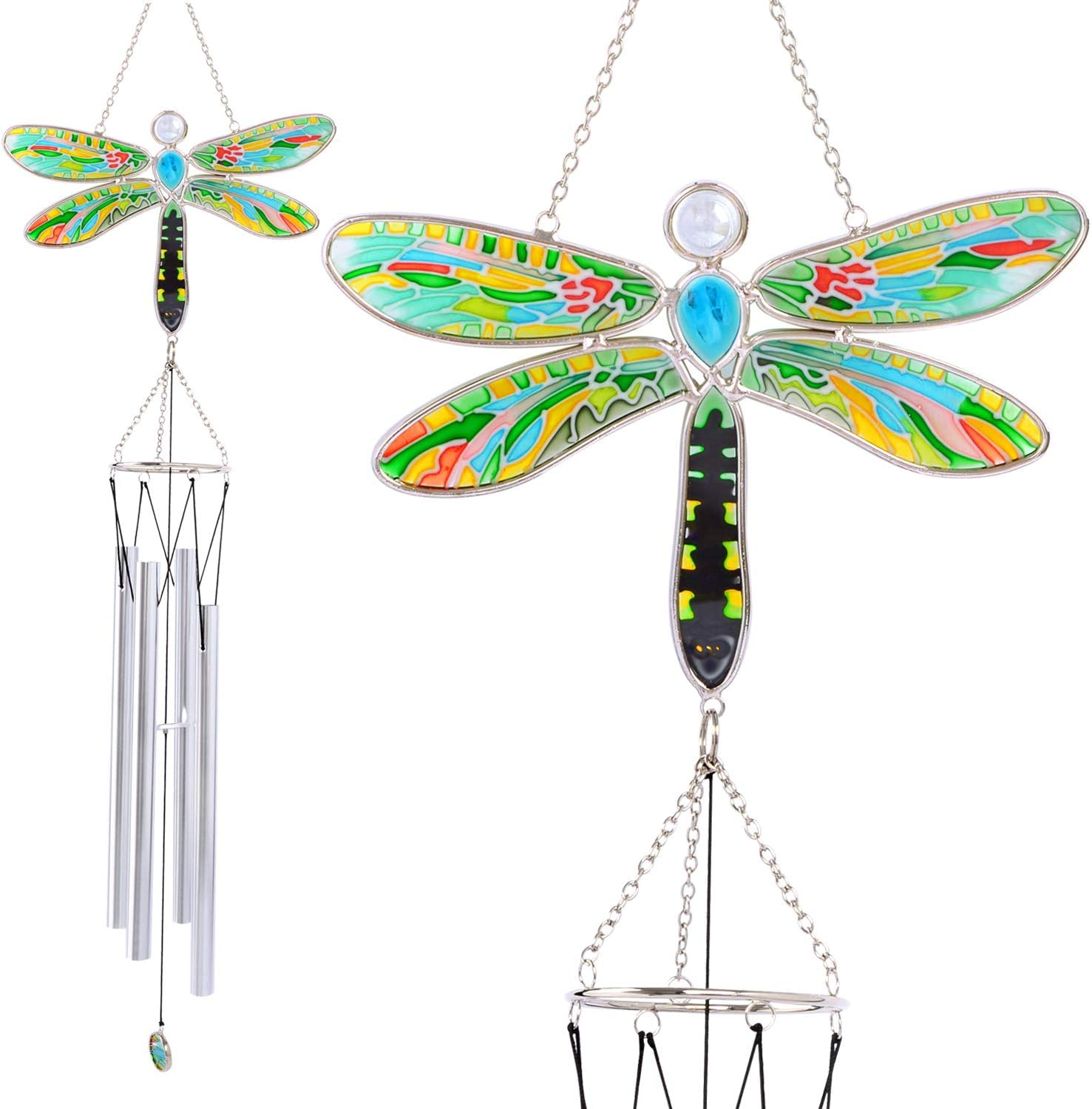 Wind chimes, Dragonfly wind chimes, Wind chimes outdoor, Home decor, Yard decor, Wind chimes outdoor large deep tone, Memorial wind chime, Gifts for mom, Wind chimes gift, Birthday gifts, Grandma gift