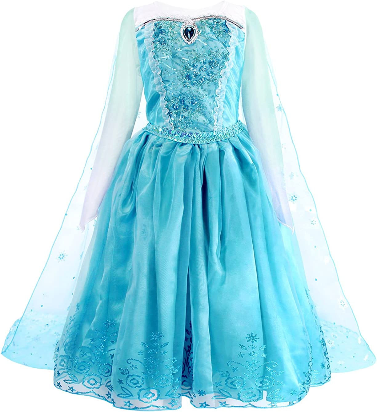 MetCuento Jasmine Little Mermaid Ariel Costume Kids Girls Toddlers Princess Dress Up Fancy Party Cosplay Birthday Outfits