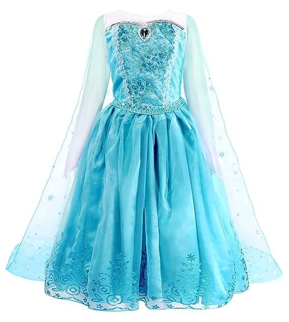 AmzBarley Princesa Vestido Disfraz Traje Niña Bebe Cumpleaños ...