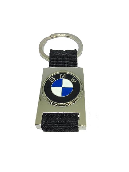 Llavero BMW Logo - de metal cromado y tela - Tamaño 3,5 x 9 ...