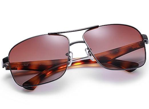 5565e7378fe5e4 Carfia Polarisierte Herren Sonnenbrille Modische Metallrahmen Fahrer  Sonnenbrille 100% UV400 Schutz für Golf, Autofahren, Outdoor Sport, Angeln
