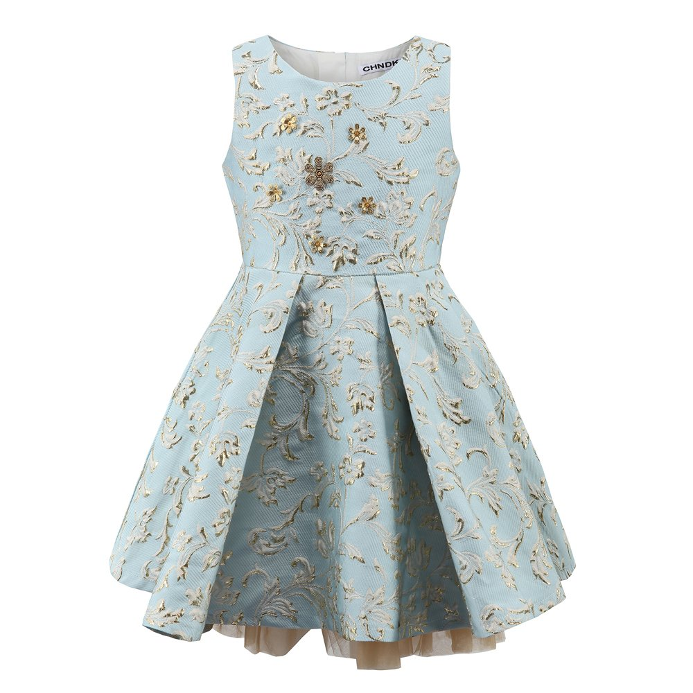 childdkivy Little Girls Clothes Party Dress Toddler/Kid (10(7-8year), Blue)