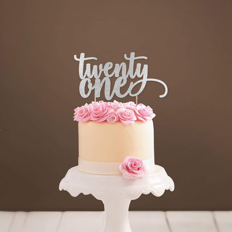 Amazon Twenty One Cake Topper 21 21st Birthday Party Decorations Milestone Age Decoration