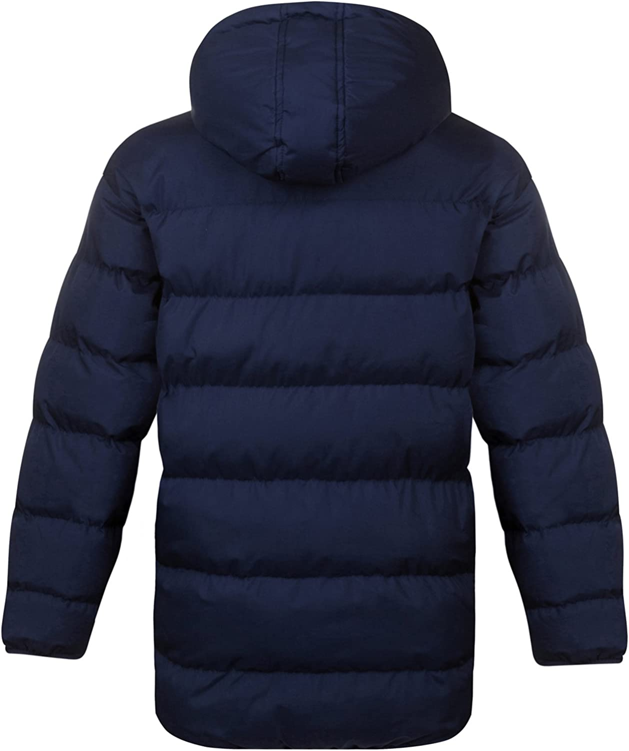 FC Barcelona Official Football Gift Boys Quilted Hooded Winter Jacket
