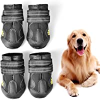 on sale eac4d 9de9d WUXIAN Waterproof Dog Shoes,Dog Outdoor Shoes, Running Shoes for Dogs,Pet  Rain