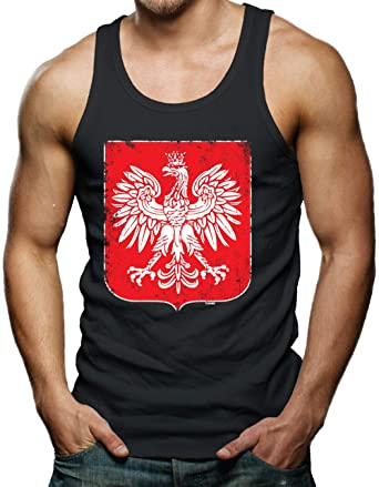 4e49a44dd65 Amazon.com  Polish Coat of Arms Men s Tank Top  Clothing