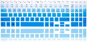 MMDW Silicone Keyboard Cover for Dell Inspiron 15 3000 5000 Series/New Inspiron 17 3000 Series/Inspiron 17 7786 /for Dell G3 15 17 Series/for Dell New G5 15 Series/for Dell G7 15 17 Series,Mint Blue