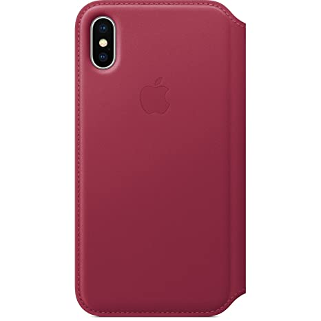 in stock 378b4 047b8 Apple Leather Folio (for iPhone X) - Berry