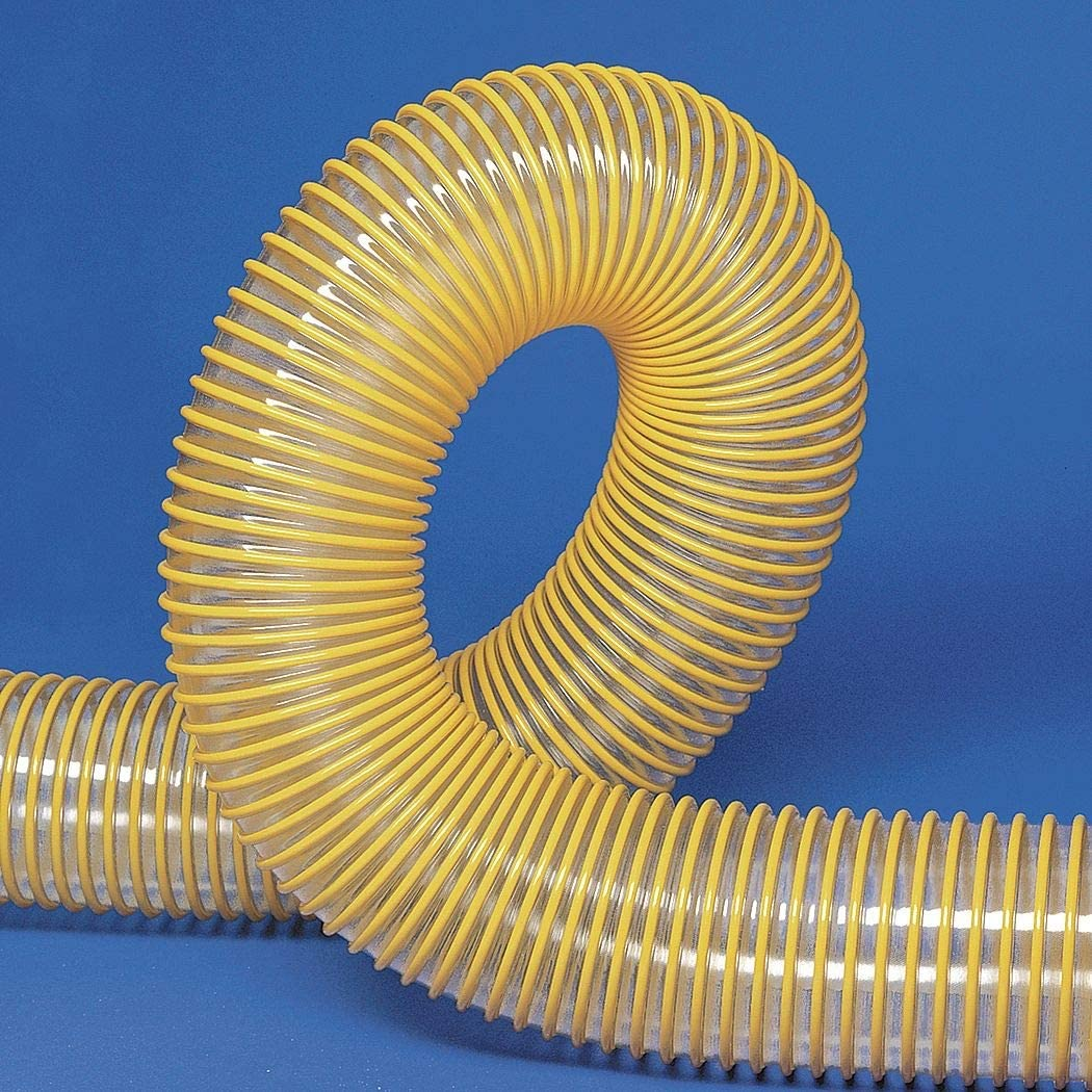 213106002625-10 Ufd-Ap 25 ft Urethane Industrial Ducting Hose with 65 Bend Radius Clear//Yellow