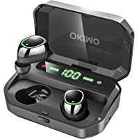 OKIMO Wireless Earbuds Bluetooth 5 Headphones with 3500mAh LED Charging Case, IPX7 Waterproof TWS Stereo Earphones in…