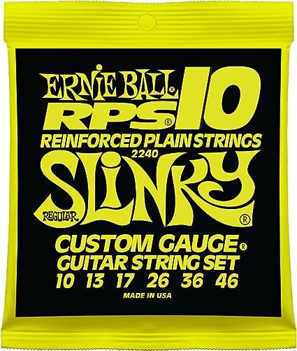 Cuerdas para guitarra eléctrica Ernie Ball Regular Slinky RPS ...