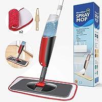 Aiglam Sprühwischer, Bodenwischer mit Sprühfunktion für schnelle Reinigung, Spray Mop mit Sprühdüse, Wischer mit Wassertank und 2-Mikrofaserbezug, Plastic