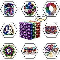 Junxave Puzzle de Bolas Magneticas de Neodimio, Puzle de Bolas de 216 Bolas Magnéticas 5mm (Colored)