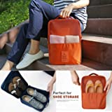 PETRICE Waterproof Travelling Shoes Storage Pouch (Colour May Vary)