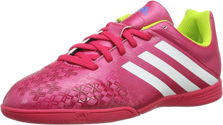 Adidas Predito LZ In J - Zapatillas de fútbol sala para niño, color rosa / blanco / limón