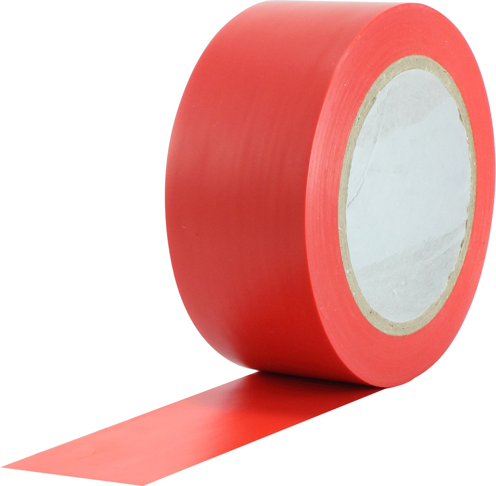 ProTapes Pro 50 Premium Vinyl Safety Marking and Dance Floor Splicing Tape, 6 mils Thick, 36 yds Length x 2'' Width, Red (Pack of 1)