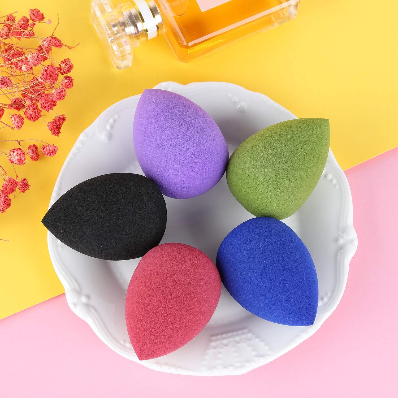 10 Packs Makeup Sponge Blender Egg Shaped Foundation Blending Sponge Multi Colored Beauty Sponge Set Flawless for Liquid Cream and Powder : Beauty