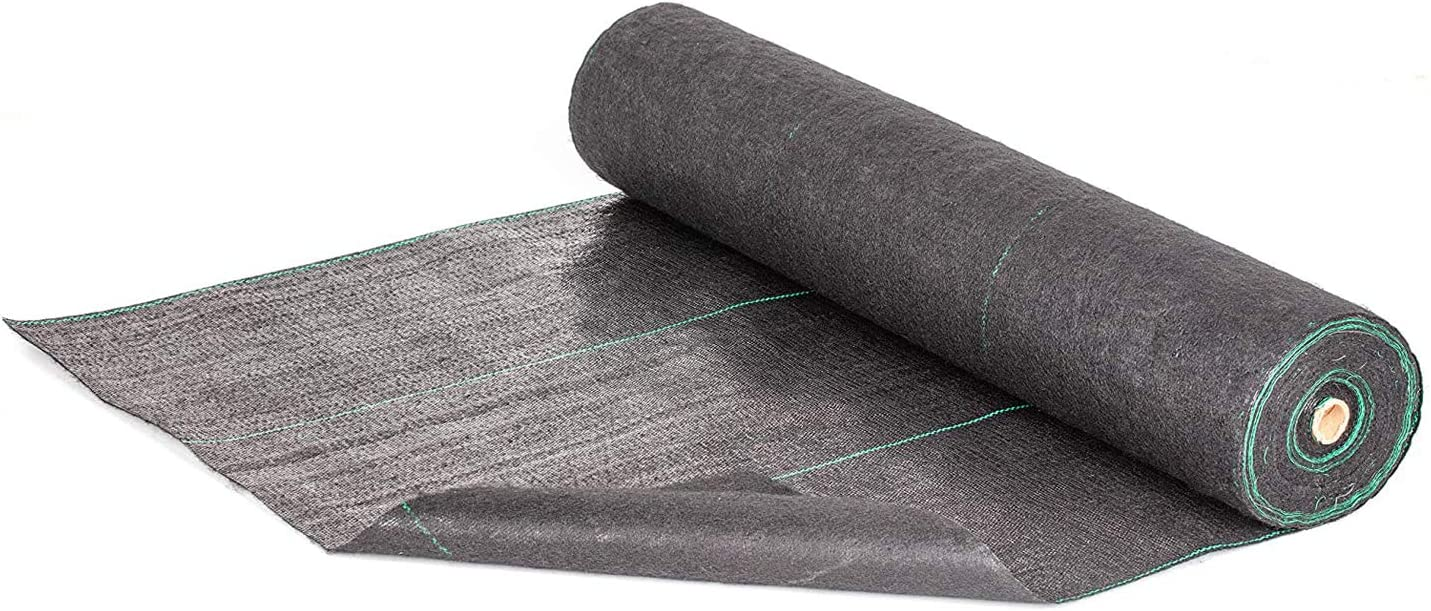 AUNUT Weed Barrier Landscape Fabric Heavy Duty 5oz Weed Barrier Fabric Premium Weed Mat Geotextile Fabric Durable Driveway Cover Garden Lawn Fabric Outdoor Weed Mat(3x50ft)