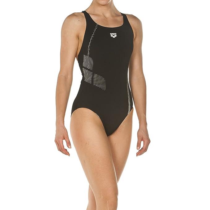 cab7b5bfe3 Arena 000088 Donna Sport Shadow - Costume da bagno, Nero/Bianco, 42