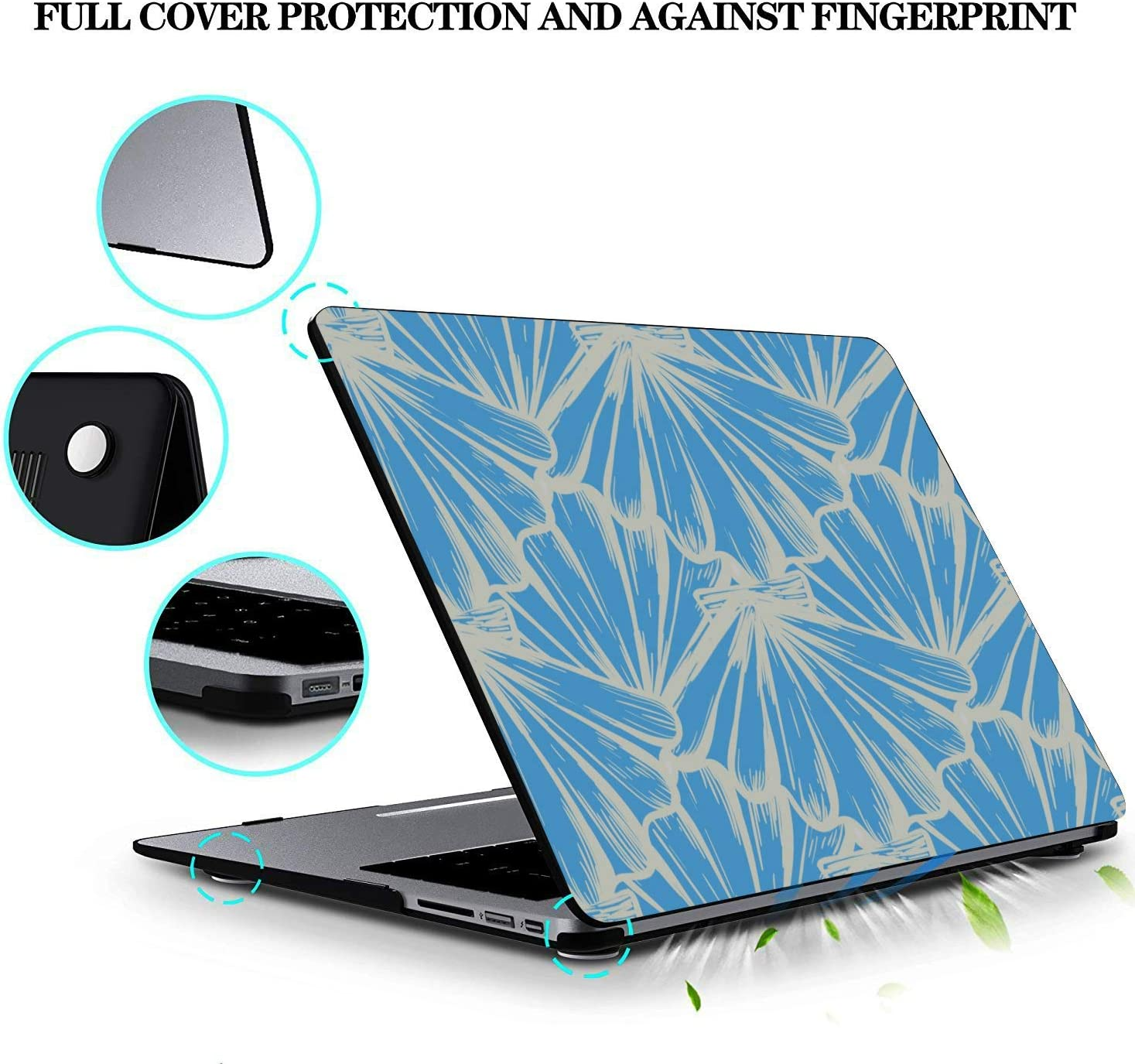 MacBook Cases Summer Seaside Seashells Starfish Plastic Hard Shell Compatible Mac Air 11 Pro 13 15 Mac Book Pro Cover Protection for MacBook 2016-2019 Version