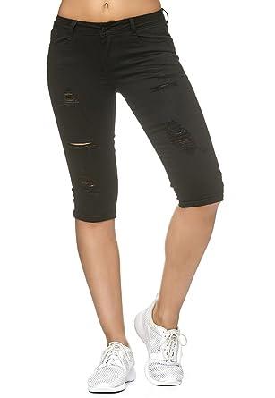 Nina Carter Damen Jeans Capri Shorts 3 4 Hose Stretch Used D2242   Amazon.de  Bekleidung 7b8ad132f5