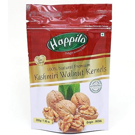 HappiloPremium 100% Natural Kashmiri Walnut Kernels, 200g