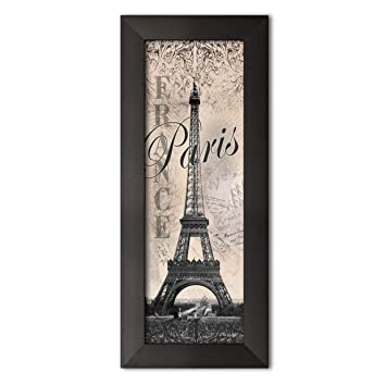 Amazoncom Eiffel Tower Global Vintage Travel Art Print Poster By