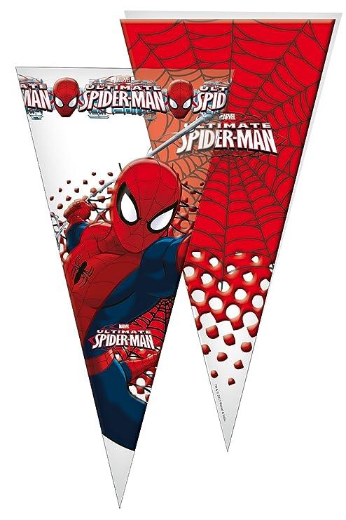 Spider-Man - 10 bolsas cono gigante, 30x60 cm (Verbetena ...