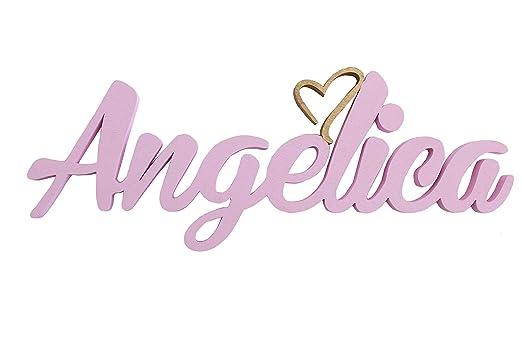 Nombre del niña de puerta placas con corazón,Angelica,regalos ...