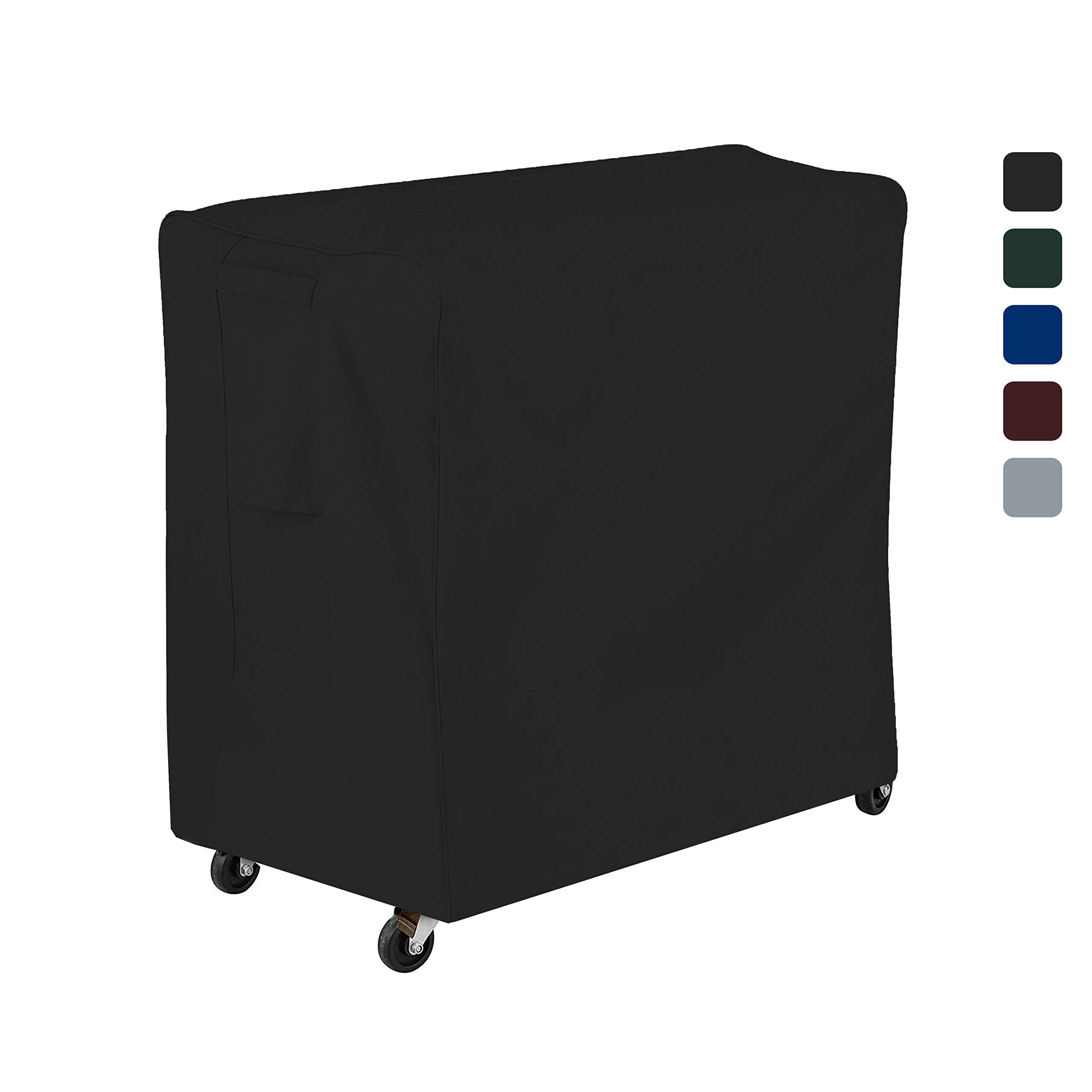 COVERS & ALL Cooler Cover 18 Oz Waterproof - Rolling Cooler Cart Cover 100% UV & Weather Resistant with Air Pocket and Drawstring for Snug Fit (32'' H x 36'' W x 20'' D, Black) by COVERS & ALL